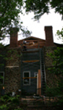 Mt. Hope: photograph of chimney renovations