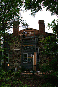 Mt. Hope: photo of chimney and siding renovation
