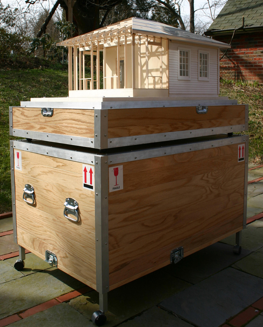 NAHB: close up photo of Path model and crate