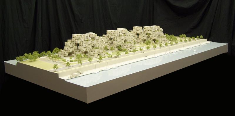 Safdie Habitat 67 site model