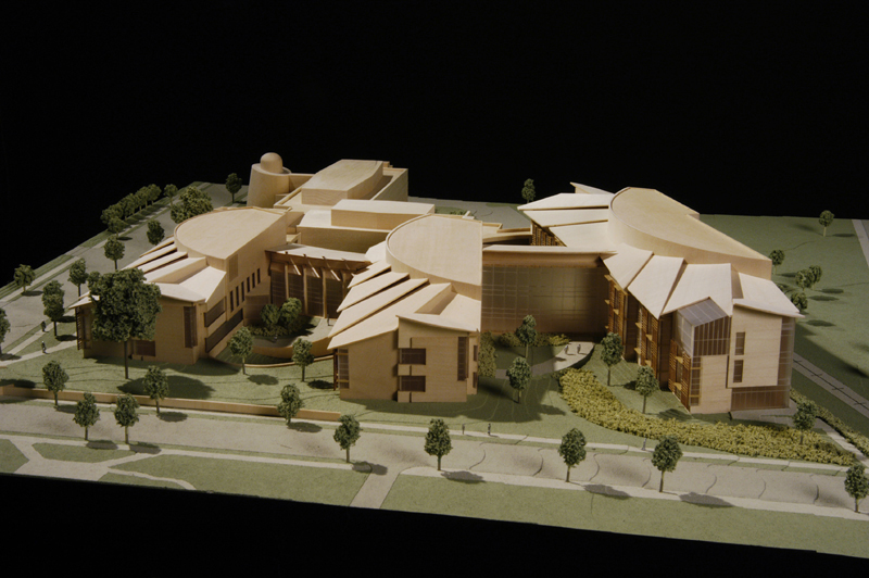 Dickenson College: close up photo of model from street