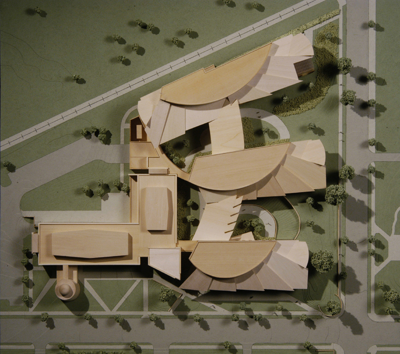 Dickenson College: close up photo of model from above
