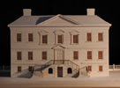 Drayton Hall: photo of rear of model
