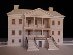 Drayton Hall: photo of front of model