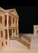 Drayton Hall: photo of portico of model
