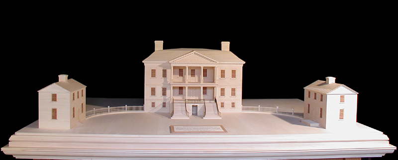 Drayton Hall: close up photo of entire site model