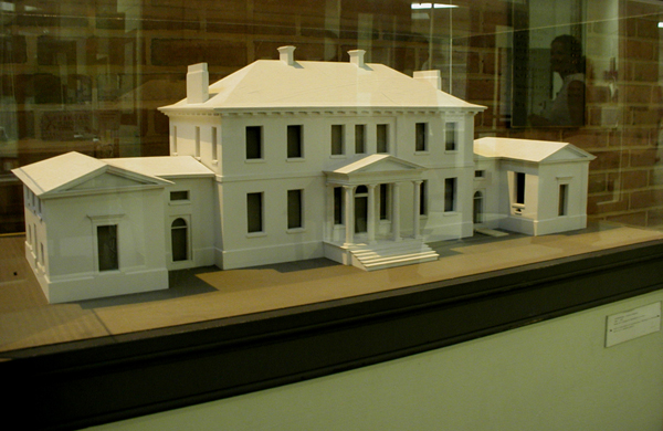 Riversdale: close up photo of mansion model